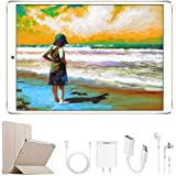 2020 Tablets 10 Inch, Dual SIM 4G/5G WiFi, IPS/HD, 3GB RAM 32GB ROM/64GB, Android 9.0, 8500mAh Tablet PC, Quad-Core, Dual 8MP Camera, Bluetooth/GPS/OTG Unlock Computer Tablets(Premium Gold)