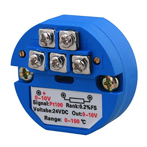 BQLZR Kunststoff PT100 Temperatur Messumformer 0-100C Ausgang 0-10V DC