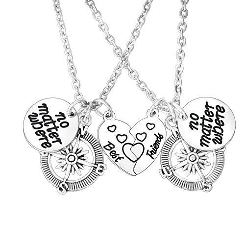 BESPMOSP 2PCs Best Friend Necklace Friendship Necklace BFF Necklace No...
