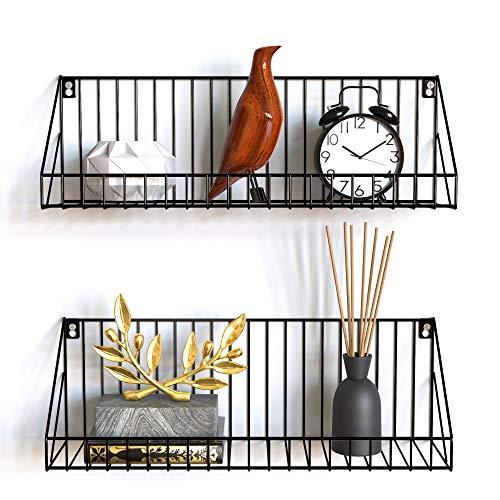 Gadgy estanteria de Pared metalica flotante| Juego de 2 estanterias metalicas | 45 x 12 x 15 cm. | Baldas Pared decorativas | Para Hogar, Cocina, Bãno