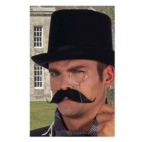 Max Bersinger 824-11-102 accesorio para disfraz Fancy dress mustache - Accesorios para disfraces (Fancy dress mustache, Adultos, Hombre, Negro) , color/modelo surtido