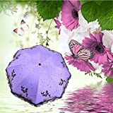 YZMBYUSAN Regenschirm Butterfly Girl Lace Parasol DREI Taschenschirm Marke Sunny Rain Parasol Sonnenschirm Regen Frauen -