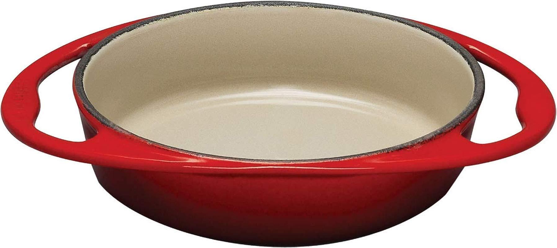 Le Creuset L2129 2567 Enameled Cast Iron Tatin Dish 2 Quart Cherry Red