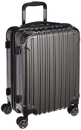 [ワイズリー] 超軽量双輪スーツケース 機内持込最大サイズ コーナーパッド付き TSAロック 52 cm 2.9kg カーボンブラック