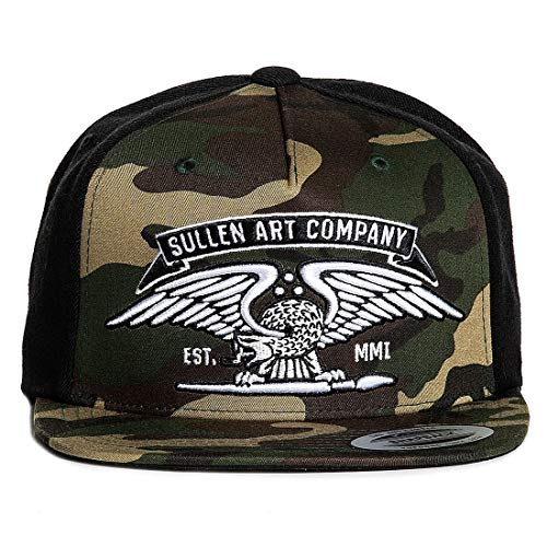 Sullen Men's No Time Snapback Hat Camo Black