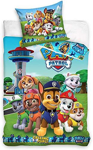 Carbotex Paw Patrol Bettwäsche 140x200 + 70x90 Bettbezug Nickelodeon 100% Baumwolle