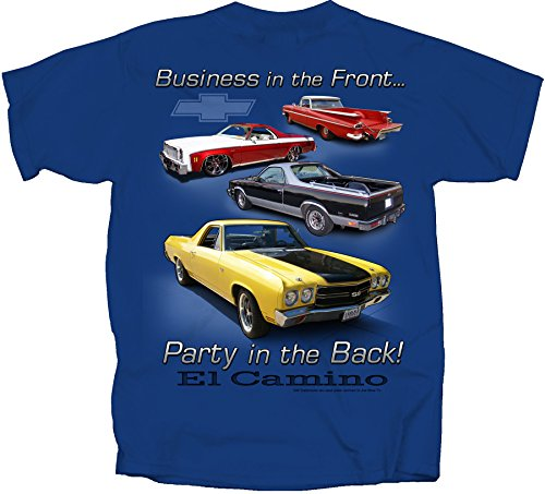 Joe Blow El Camino Party in Back Adult T-Shirt, X-Large, Metro Blue