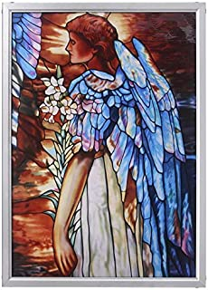 Stained Glass Panel - The Angel of Light Stained Glass Window Hangings - Art Glass Window Treatments