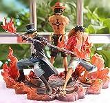 SZSOZD Anime One Piece 15cm 3pcs / Set Luffy & Ace & Sabo 3 Brother PVC Figura de acción Juguetes Mu...