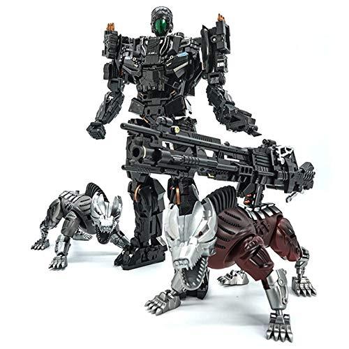 Xihaha Juguetes de deformación de aleación, Dominio Robot Perú Lockdown + Dos Dog Acción Figura Modelo Niños Regalo Favorito