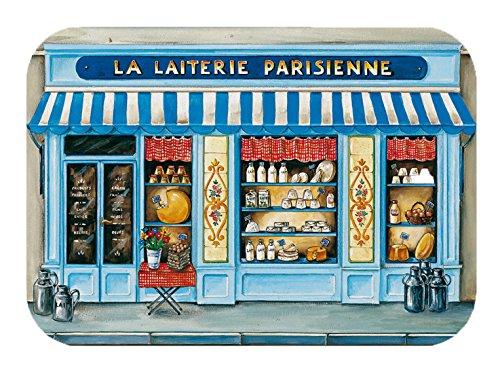 Winkler - Set de table Boutique La Laiterie – 45x30 cm – Napperon rectangle – Facile à nettoyer - Dessin vintage