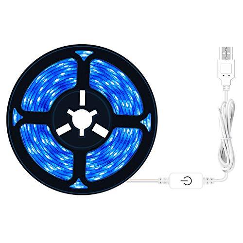 HYDL Lámpara de Plantas Crecimiento, LED Planta Crecer Tira luz, Tira de Luz De Cultivo Ajustable USB, Impermeable Lámpara de Crecimiento para Acuario Invernadero Plantas,3M