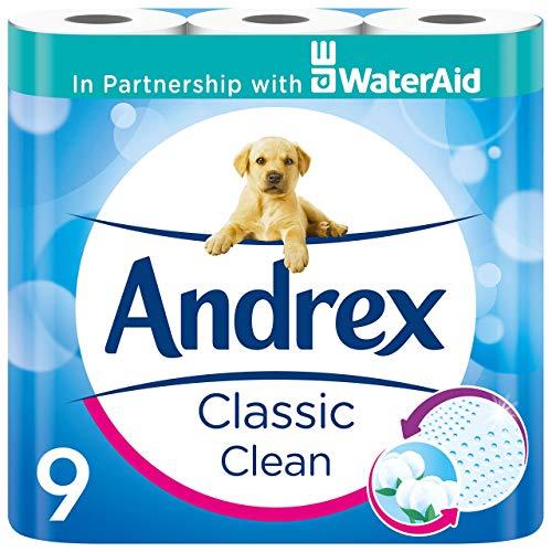Andrex Classic Clean Toilet Tissue, 45 Toilet Rolls