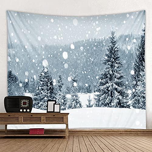 Fiesta De Navidad Tapiz De Pared Decoración De Arte Manta Decoración Familiar Escena De Nieve De Navidad Árbol De Navidad Muñeco De Nieve Qyy-267
