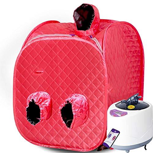 HZX Tragbare Klappsauna, Außensauna für 2 Personen, Negativion-Detox-Sauna-Box, rot, a
