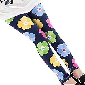 Plus Nao(プラスナオ) レギンス スパッツ ボトムス 10分丈 キッズ 子供 服 子ども こども 女の子 女児 動きやすい カジュアル 花柄 フラワ 160 G