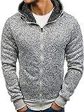 BOLF – Sweat-Shirt Zip Capuche Sport Homme – J.Style AK28 Gris M [1A1]