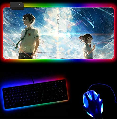 RGB Mouse Pad Your Name Rubber Mouse Pad Pad to Mouse Notebook...