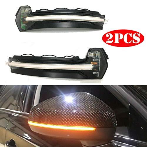 2 luces LED dinámicas, intermitentes, laterales, Reemplazo para espejo retrovisor Reemplazo para Audi A3, S3, RS3 8V, de 2013-2019 (Transparent Shell)