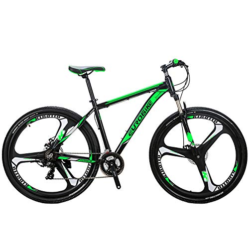 "Eurobike OBK 29"" Mountain Bike Lightweight Aluminum Frame Front Suspension Daul Disc Brakes 21 Speed Mens Bicycle 29er mtb (Mag Wheels)"