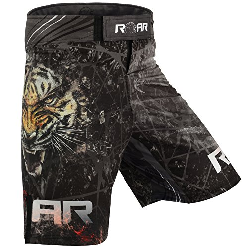 ROAR MMA Fight Shorts UFC Grappling Muay Thai BJJ Crossfit Training Jiu Jitsu No Gi Wear, Dragon, X-Large