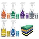 JAWS Cleaners Ultimate Cleaning Kit, Multi-Surface Kitchen, Glass, Shower, Granite, Hardwood Floor and Disinfectant, 2 Refill Pods of Each, Includes Microfiber Cloths (Health and Beauty)