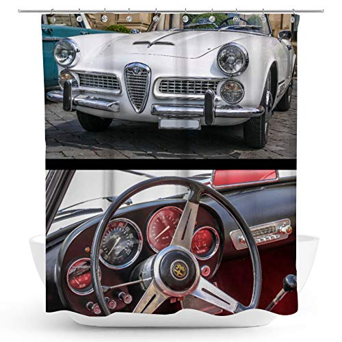 fotobar!style Duschvorhang 175 x 200 cm Alfa Romeo 2000 Touring Spider (1957-1962) Oldtimer