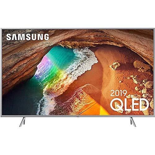 Samsung Q64R Silver 138 cm (55 Zoll) 4K QLED Fernseher (Q HDR, Ultra HD, HDR, Twin Tuner, Smart TV)