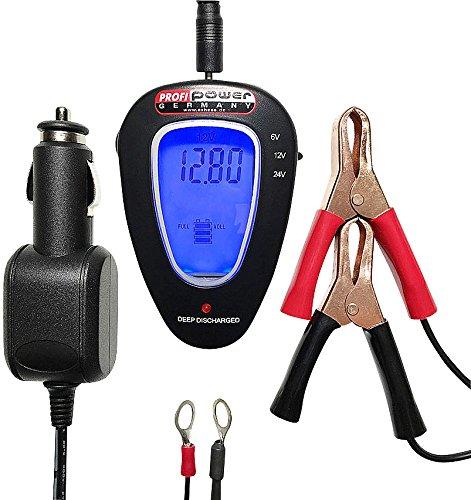 Tester Digitale per Controllo Batteria Unitec Profipower 76781 12V e 24V