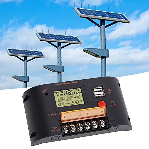 Controlador de batería, regulador de panel solar de 10 A, con tecnología de energía fotovoltaica Activación de falla Tienda para batería de plomo-ácido Inicio 12V 24V