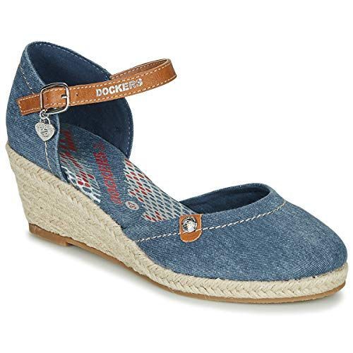 Dockers by Gerli 36is210-670 Sandals Women Denim - 9.5 - Sandals Shoes