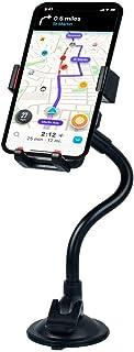 Suporte Veicular Universal Celular Smartphone Painel e Vidro Trava Automática Haste flexível de metal