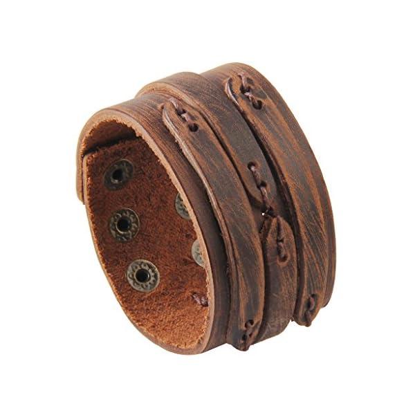 GelConnie Adjustable Braided Leather Bracelet 1