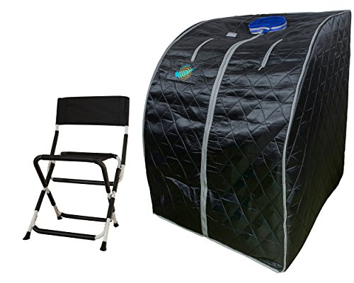 Sauna infrarouge portable XL deluxe, 1000 Watt - sauna infrarouge portable, pliable et repliable