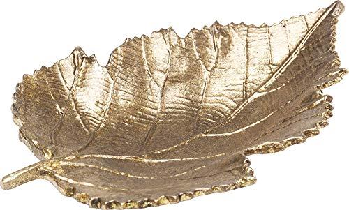 Kare Deko Schale Leaf Gold Klein, Silber, One Size