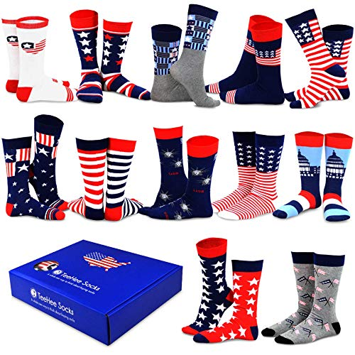 TeeHee Christmas Holiday 12-Pack Gift Socks for Women with Gift Box (Holiday-D)