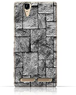 Sony Xperia T2 Ultra TPU Silicone Case with Stoney Wall Design