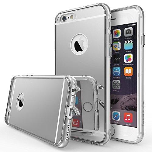 Ringke Funda iPhone 6S, [Fusion Mirror] reflexión Brillante Radiante Espejo [Protección Gota/Tecnología de absorción de Impactos] para Apple iPhone 6S / 6 - Silver