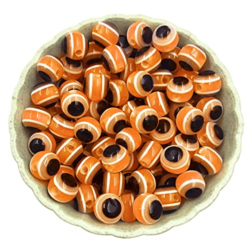 Accesorios de joyería Cuentas sueltas Cuentas espaciadoras Cuentas de ojo de gato Acrílico para collar pulsera 6 mm 100 piezas / lote Material hecho a mano DIY-China, Naranja