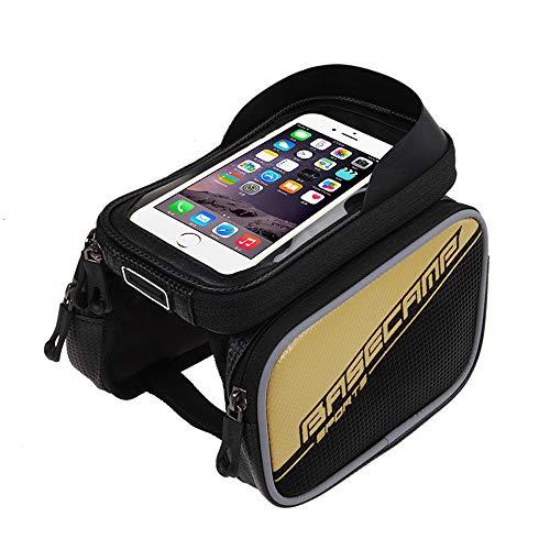 JSX fietstas voor voorwiel, opbergtas voor mobiele telefoon met touchscreen, waterdicht, geschikt voor 6 inch
