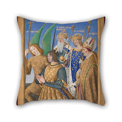 Oil Painting Jean Bourdichon (French - Louis XII Of France Kneeling In Prayer Pillow Covers 18 X 18 Inches / 45 By 45 Cm Best Choice For Dinning Room Kids Room Her Deck Chair Car Seat With Double