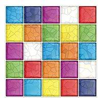 6ピース/ロットキッチンバスルーム3D防水自己接着モザイクの壁デカールステッカーピールとスティックバックスプラッシュビニールタイル (Color : Colorful)