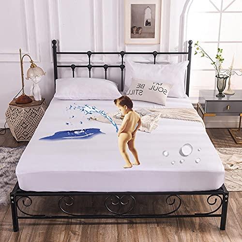 CYYyang Funda colchón Microfibra, elástica y Ajustable, Sábana de Hotel de Color Puro Simple-White_180cm × 200cm