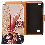 Lankashi PU Flip Leder Tasche Hülle Hülle Cover Schutz Handy Etui Skin Für BlackBerry Leap Wing Girl Design