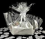 Geschenkkorb für Brautpaar / Hochzeitspaar, in klassischem Weiß mit vielen tollen Geschenken in einem vielseitigen Filzkorb, universell, schönes Hochzeitsgeschenk, Hochzeit