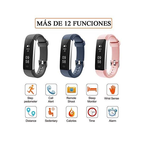 Pulsera de Actividad Inteligente, Sumergible Reloj Deportivo IP67 Smartwatches