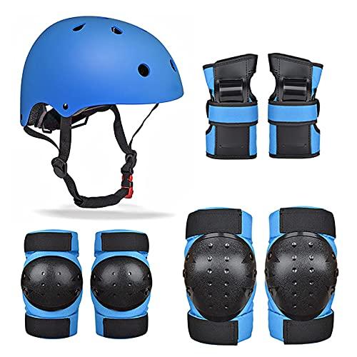 YTBLF Juego de 7 piezas de protección para patinaje infantil, casco, rodilleras y coderas, para niños de 3 a 6 años