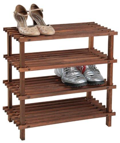 Kesper 69734 - Estante para Zapatos (4 baldas, Certificado FSC, 54 x 26 x 52 cm)