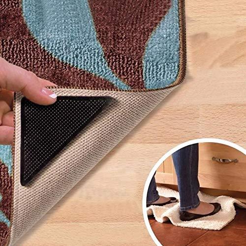 Gemini_mall rutschfeste Teppichunterlagen, wiederverwendbar und waschbar, aus Silikon, 4Stück