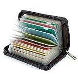 Tarjeteros para Tarjetas de Credito 26 Ranuras (Cuero Negro Especial)...